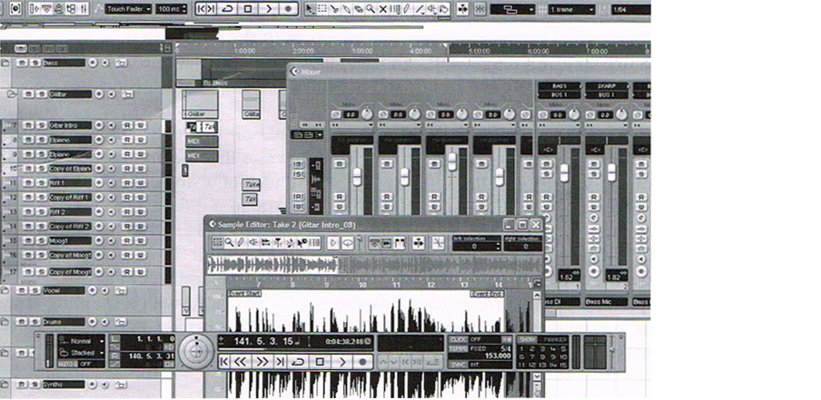 Figure 3.3: Screen shot of composition in audio software.